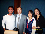 Karl with World table tennis champion Jiang Jia Liang and his family