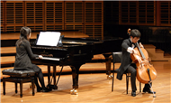 Cellist George Yang with Piano accompanist Sherilyn Chen