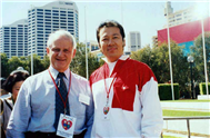 Karl with Philip Ruddock (Former Minister of Immigration).