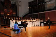 Conductor Karl Yang in the Ode to Joy Classical Choral Concert